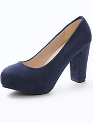 cheap -Women's Shoes Suede Spring / Summer Chunky Heel Black / Pink / Blue / Dress