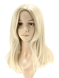 cheap -capless long straight silver wigs side bang