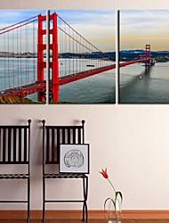 abordables -lona personalizada bahía de impresión Galería puente de 40 x 60 cm 28 x 40 cm envuelto conjunto del arte de 3