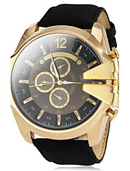 V6® Men's Military Style Gold Case Leather Band Quartz Wrist Watch (Assorted Colors) Cool Watch Unique Watch Fashion Watch