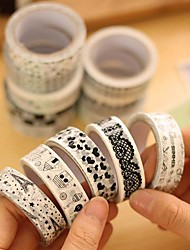 cheap -Black And White Decorative Tape(1 PCS) For School / Office