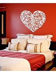 abordables -jiubai ™ de modèle de coeur de décalque de mur d'autocollant de mur de décoration à domicile