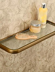 Bathroom Shelf / Antique Bronze Brass Glass /Antique