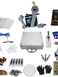 cheap -1 Gun Complete No Ink Tattoo Kit with Wrench Shaped Tatoo Machine For Liner and Ep-2 Power (Contain a Suitcase)