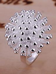 Недорогие -яркие женские фейерверки серебряные пластины кольцо классический женский стиль