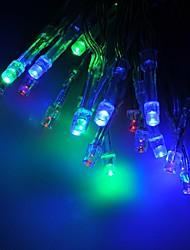 abordables -2m condujo larga cadena de luces para la decoración de navidad en azul rojo amarillo verde