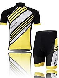 XINTOWN Muškarci Kratkih rukava Biciklistička majica s kratkim hlačama - Crn Bijela Plava Bicikl Kratke hlače Biciklistička majica