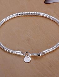 serpent osseuse du bracelet plaque d'argent des femmes vives