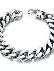 cheap -Z&X®  Men's Fashion Contracted Titanium Steel Thick Chain Bracelet Jewelry Christmas Gifts