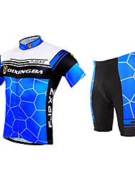 FJQXZ Cycling Jersey with Shorts Men's Short Sleeves Bike Shorts Sleeves Jersey Clothing Suits Quick Dry Ultraviolet Resistant Front