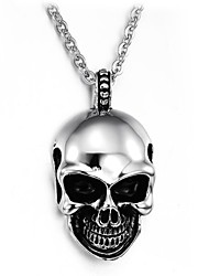 terroriste mal crâne titane collier homme en acier
