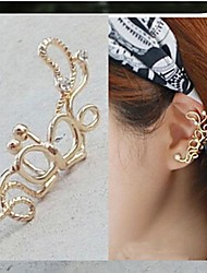 cheap -Ear Cuffs Alloy Simulated Diamond Simple Style Silver Golden Jewelry