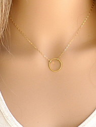 cheap -Women's Pendant Necklace  -  Simple Style, Fashion Gold, Silver Necklace For Party, Daily, Casual