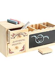 economico -contenitore penna di legno con musica lavagna box giocattoli