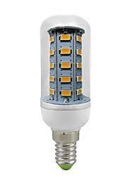 abordables -600 lm E14 Ampoules Maïs LED T 36 diodes électroluminescentes SMD 5730 Décorative Blanc Chaud AC 220-240V