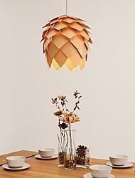 moderno pendente di legno echinacea, 1 luce, pigna crimean, 40 cm