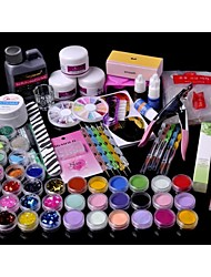 cheap -71PCS Acrylic Powder Brush Glitter Clipper File Nail Set