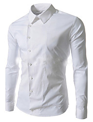 cheap -Men's Chic & Modern Shirt - Solid Colored, Modern Style