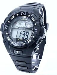 baratos -Homens Relógio Esportivo / Relogio digital Japanês Relógio Casual Silicone Banda Amuleto Preta / Dois anos