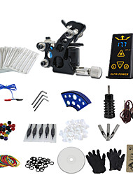 cheap -1 Gun Complete No Ink Tattoo Kit with Black Tatoo Machine For Liner and Ep-2 Power Supply
