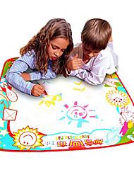 Недорогие -70 * 70 * 1,5 см дети магия воды рисунок каракули мат платы игрушки новизны (кисть бесплатно)