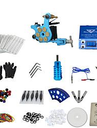 abordables -1 pistolet terminer sans kit encre de tatouage avec balle machine de tatouage bleu et aluminium alimentation en alliage