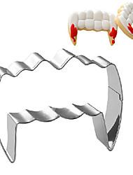 economico -tema di Halloween wampire forma del dente cookie cutter, l 7,6 centimetri 5,2 centimetri x la xh 2,5 centimetri, in acciaio inox