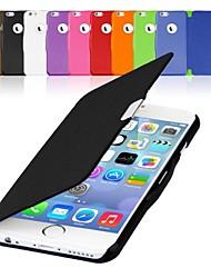 Недорогие -vormor® искусственная кожа магнитное откидную крышку жесткий футляр для iPhone 6 Plus (разных цветов)