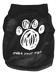 cheap -Cat Dog Shirt / T-Shirt Dog Clothes Cartoon Black Costume For Pets