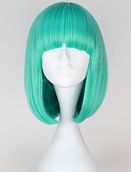 Lady Gaga Style Capless Fashion Short Straight Bluish Color Women Synthetic Wigs