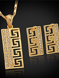Jewelry-Necklaces / Earrings(Crystal / Rhinestone / Platinum Plated / Gold Plated)Wedding / Party / Daily / Casual / Sports Wedding Gifts