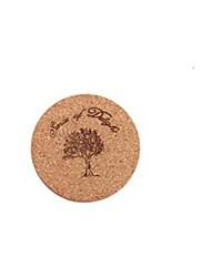 Недорогие -мультфильм дерево теплоизоляция съесть коврик для чашки или пластины 10 х 10 см