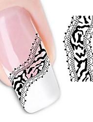 Недорогие -вода трансферная печать ногтей наклейки xf1333