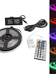 cheap -Waterproof 5M 300x5050 SMD RGB LED Strip Light with 44-Key Remote Controller and AC Adapter Set (US Plug 100-240V)