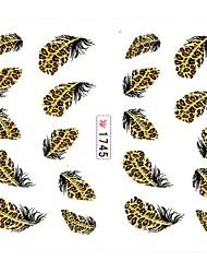 1 Neglekunst Klistermærke 3D Negle Stickere Tegneserie Blomst Smuk Makeup Kosmetik Neglekunst Design