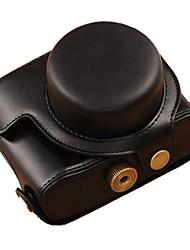 abordables -Etuis-Une épaule-Appareil photo numérique-Canon-Résistant à la poussière-Noir Café Marron