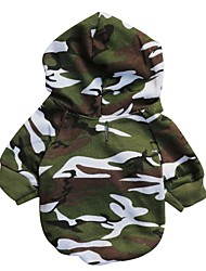 cheap -Cat Dog Hoodie Dog Clothes Breathable Fashion Camouflage Camouflage Color Costume For Pets