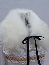 kvinders fashionable blonde pelskrave sjaler