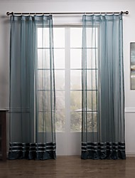 cheap -Two Panels Curtain Modern Neoclassical Mediterranean Rococo Designer , Solid Living Room Polyester Material Sheer Curtains ShadesHome