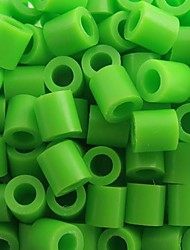 cheap -Approx 500PCS/Bag 5MM Lime Green Fuse Beads Hama Beads DIY Jigsaw EVA Material Safty for Kids Craft