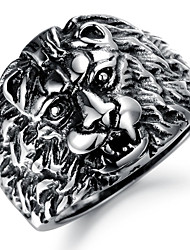 Fashion Antique Stainless Steel Lions Men's Rings (1 Pcs) Christmas Gifts