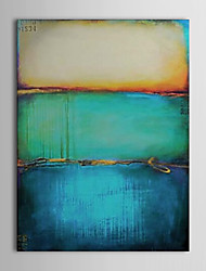 cheap -Hand-Painted Abstract Vertical, Modern European Style Canvas Oil Painting Home Decoration One Panel