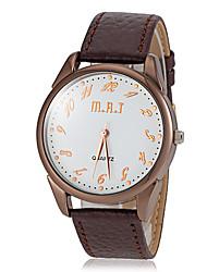 baratos -Homens Relógio Elegante / Relógio de Pulso Venda imperdível PU Banda Amuleto / Casual Preta