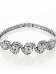 cs ol luxo fresco elegante pulseira de strass