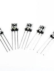 Недорогие -hx1838 / pc638 поделки универсальный электронный компонент инфракрасный приемник - серебро (5 шт)