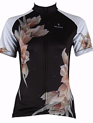 ILPALADINO Cycling Jersey Women's Short Sleeves Bike Jersey Tops Quick Dry Ultraviolet Resistant Breathable 100% Polyester Floral /