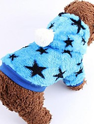 cheap -Dog Coat Dog Clothes Stars Blue Pink Costume For Pets
