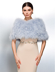 cheap -Feather / Fur Wedding Party Evening Casual Fur Wraps Wedding  Wraps Shrugs