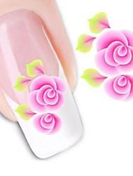 Недорогие -1 pcs 3D наклейки на ногти Наклейка для переноса воды маникюр Маникюр педикюр Цветы / Свадьба / Мода Повседневные / 3D-стикеры для ногтей