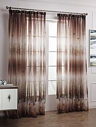 baratos -bordo dois painéis elegante país folhas de outono cortinas diáfanas cortinas